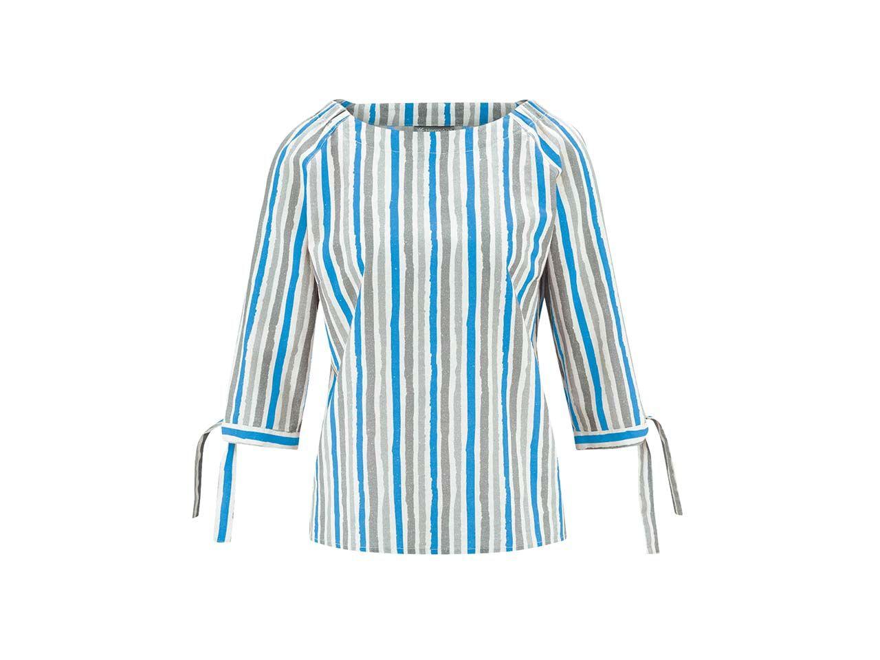 HempAge Damen-Bluse Halbarm, topaz, Gr. L DH173OEB