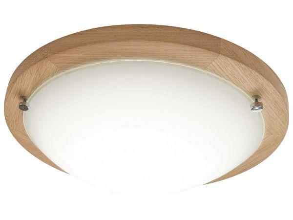 """LED-Deckenleuchte""""Frida"""",Ø45cm,Eichegeölt/weiß,inkl.LED, 18W, 1.650lm, B-Ware, Zustand gut"""