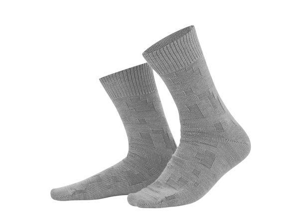 "Living Crafts Bio-Herren-Socken ""Hagen"" grey melange, Gr. 39-42"