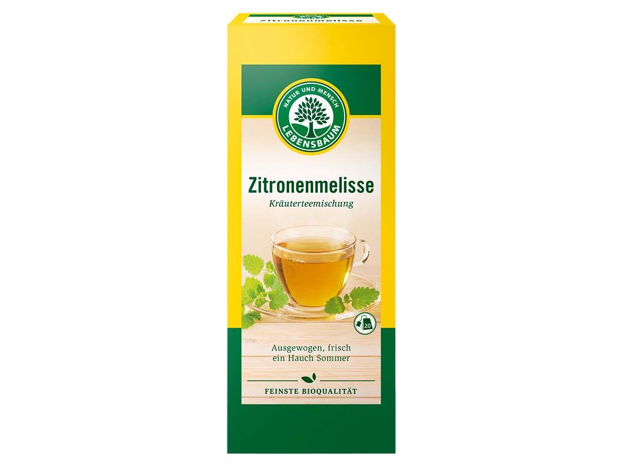 "Lebensbaum Bio-Kräutertee ""Zitronenmelisse"", 20 x 1,5 g 5138"