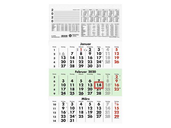 Zettler Dreimonatskalender 2020