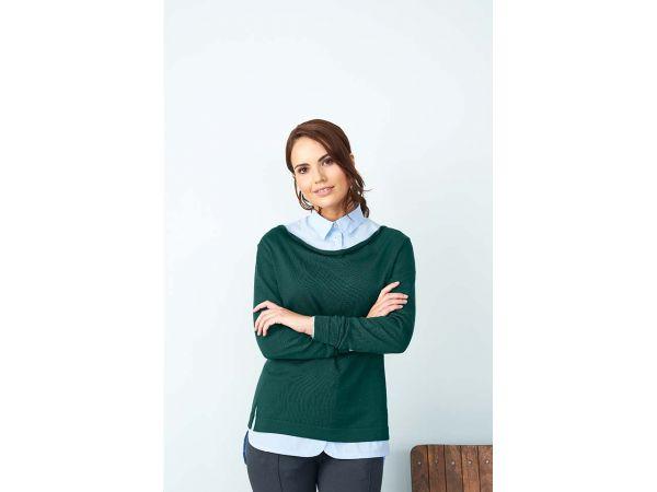 "Living Crafts Bio-Damen-Pullover ""Doreen"" dunkelgrün, Gr. L"