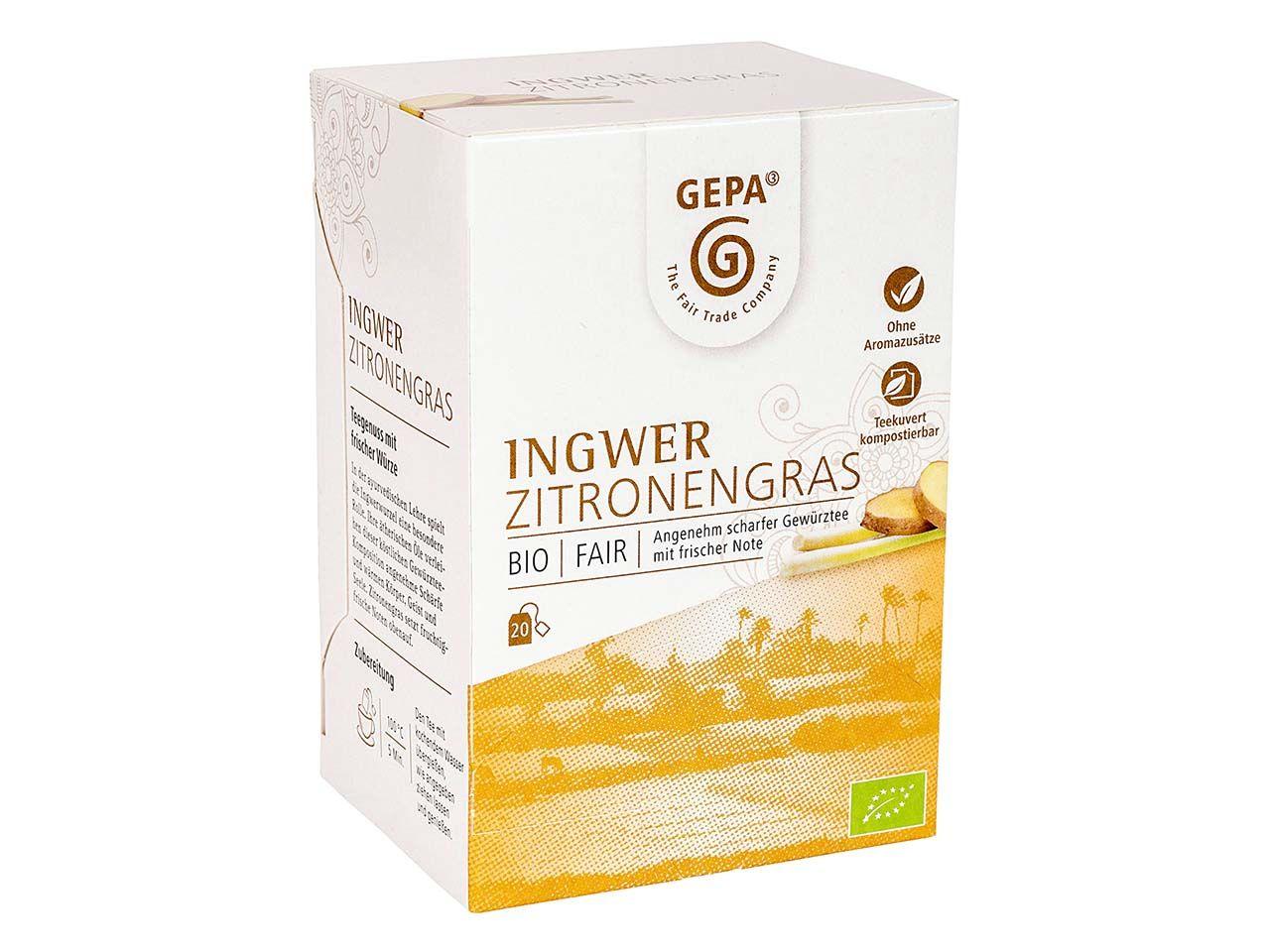 GEPA Bio-Ingwertee Zitronengras, 20 x 1,5 g 8880970