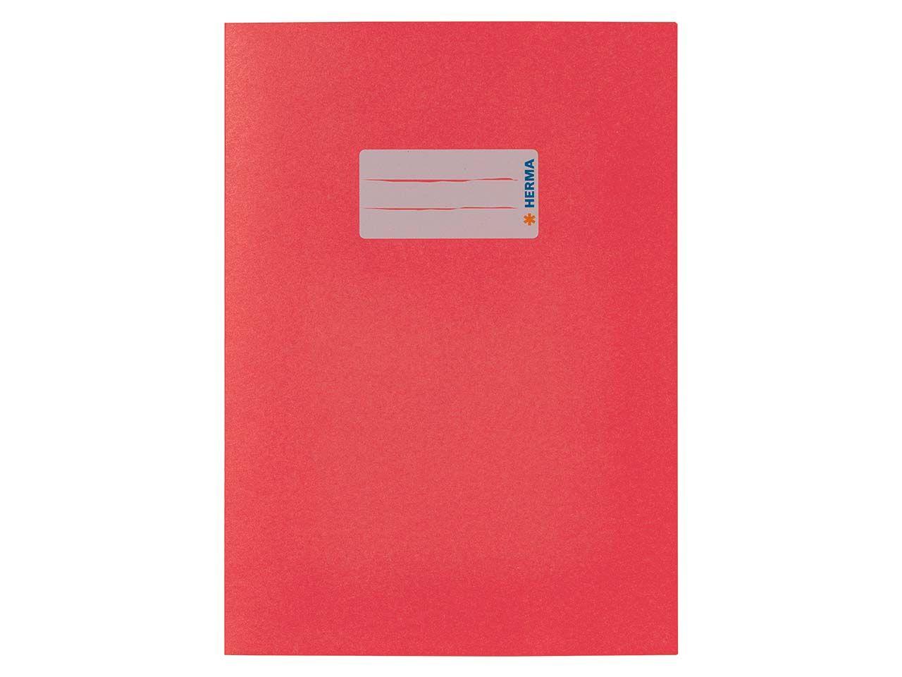 HERMA Heftumschlag RC-Papier A5 rot 5502