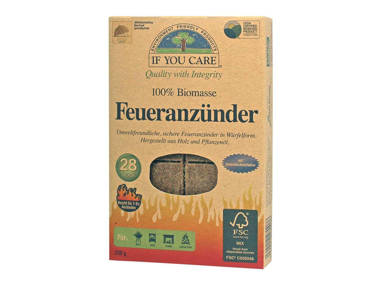 IF YOU CARE Grillanzünder, 28 Stk. 480086