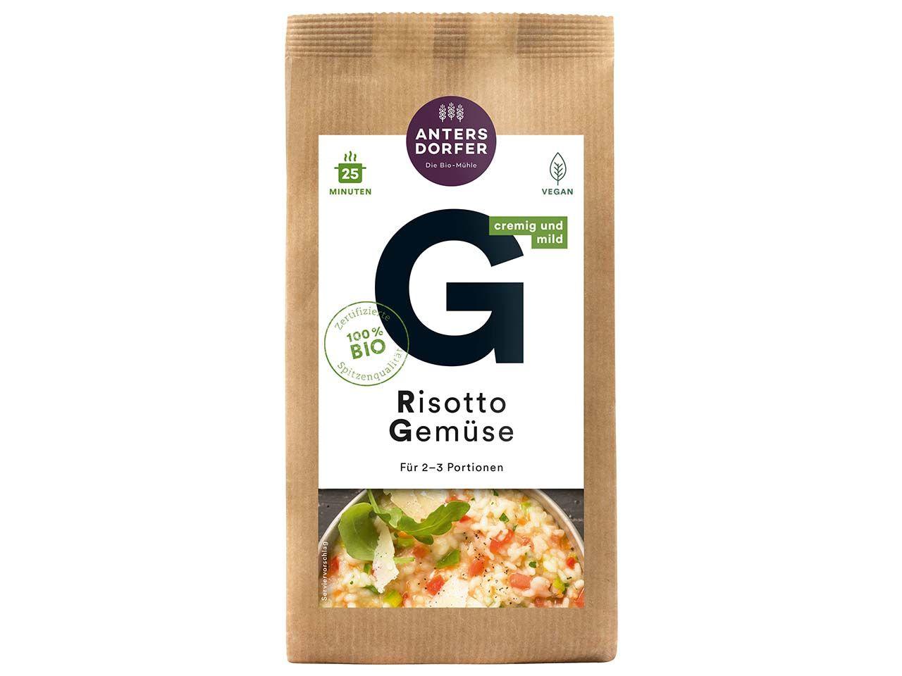 "Antersdorfer Bio-Risotto ""Gemüse"", 150 g A0374"