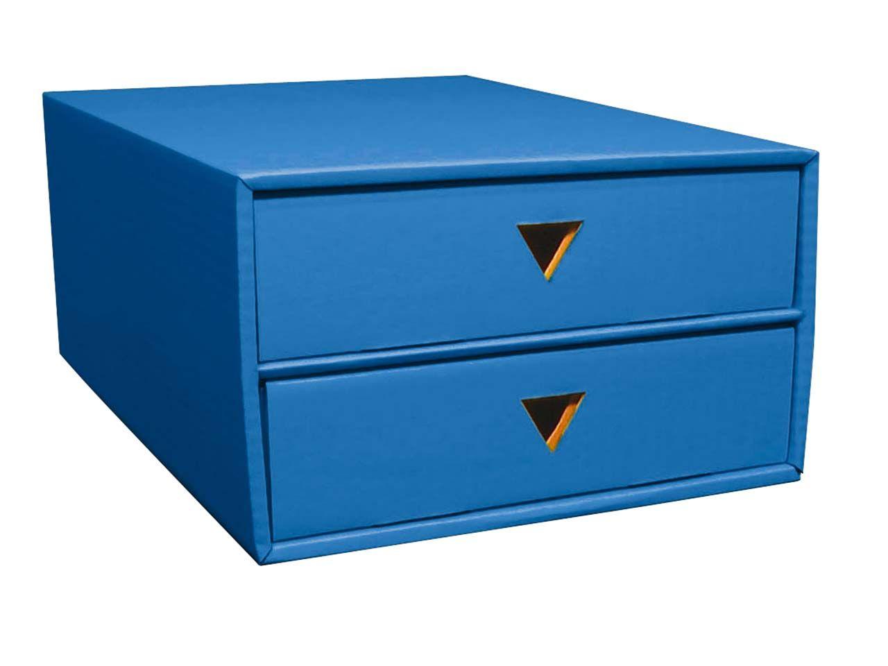 Schubboard A4 mit 2 Schüben blau 7039blau