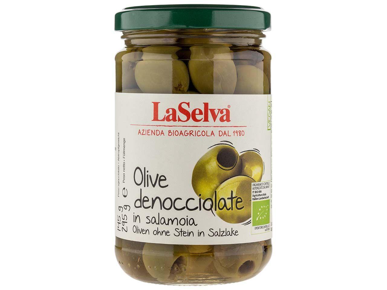 LaSelva Grüne Bio-Oliven in Salzlake 295 g 170002507