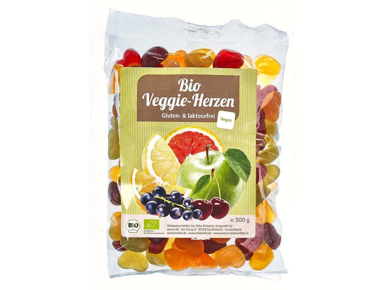 memo Bio-Fruchtsaftherzen für Veganer 500 g Tüte C09704000