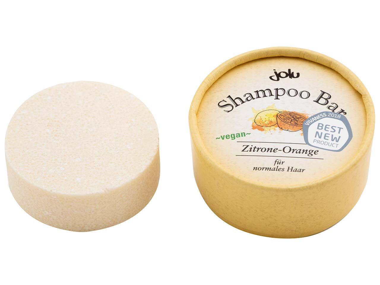 "Jolu Festes Shampoo ""Shampoo Bar Zitrone-Orange"" in Pappdose, 50 g 314"
