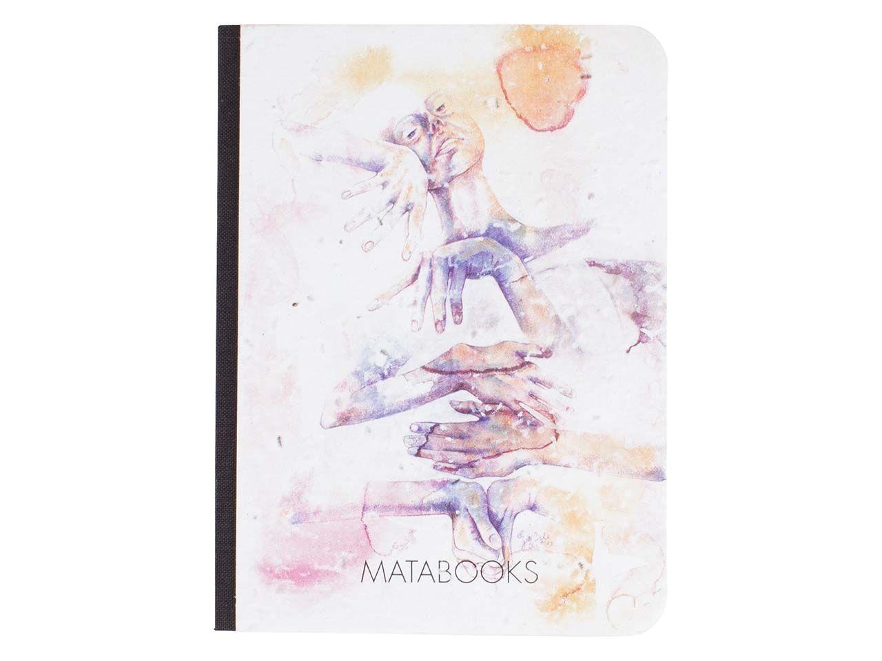 """Matabooks Notizbuch """"Eingeklemmt"""" aus Graspapier mit Blumensamen SMB004"""