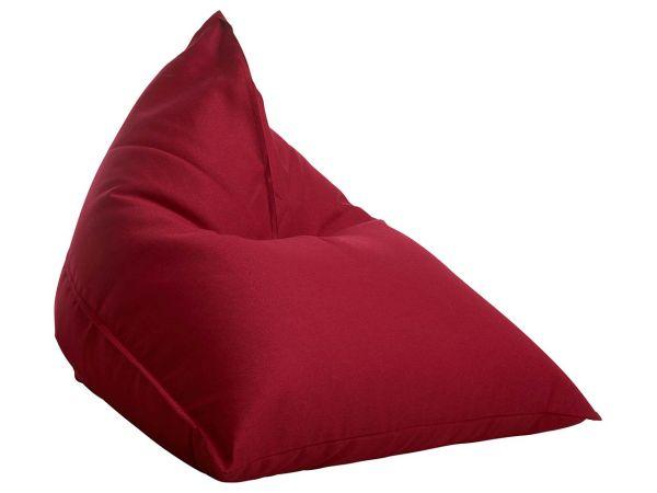 """Sitzsack """"Triangle"""" rot, für Innenbereich"""