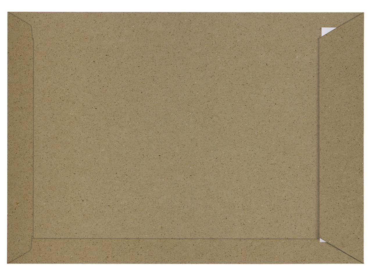 50 Versandtaschen aus Graspapier DIN C4, Haftklebung, mit Fenster, 120 g/m²