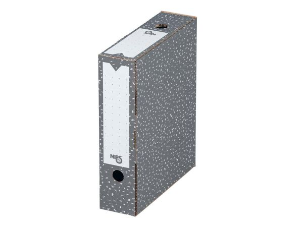 20 Nips Archivboxen 8cm antrazith
