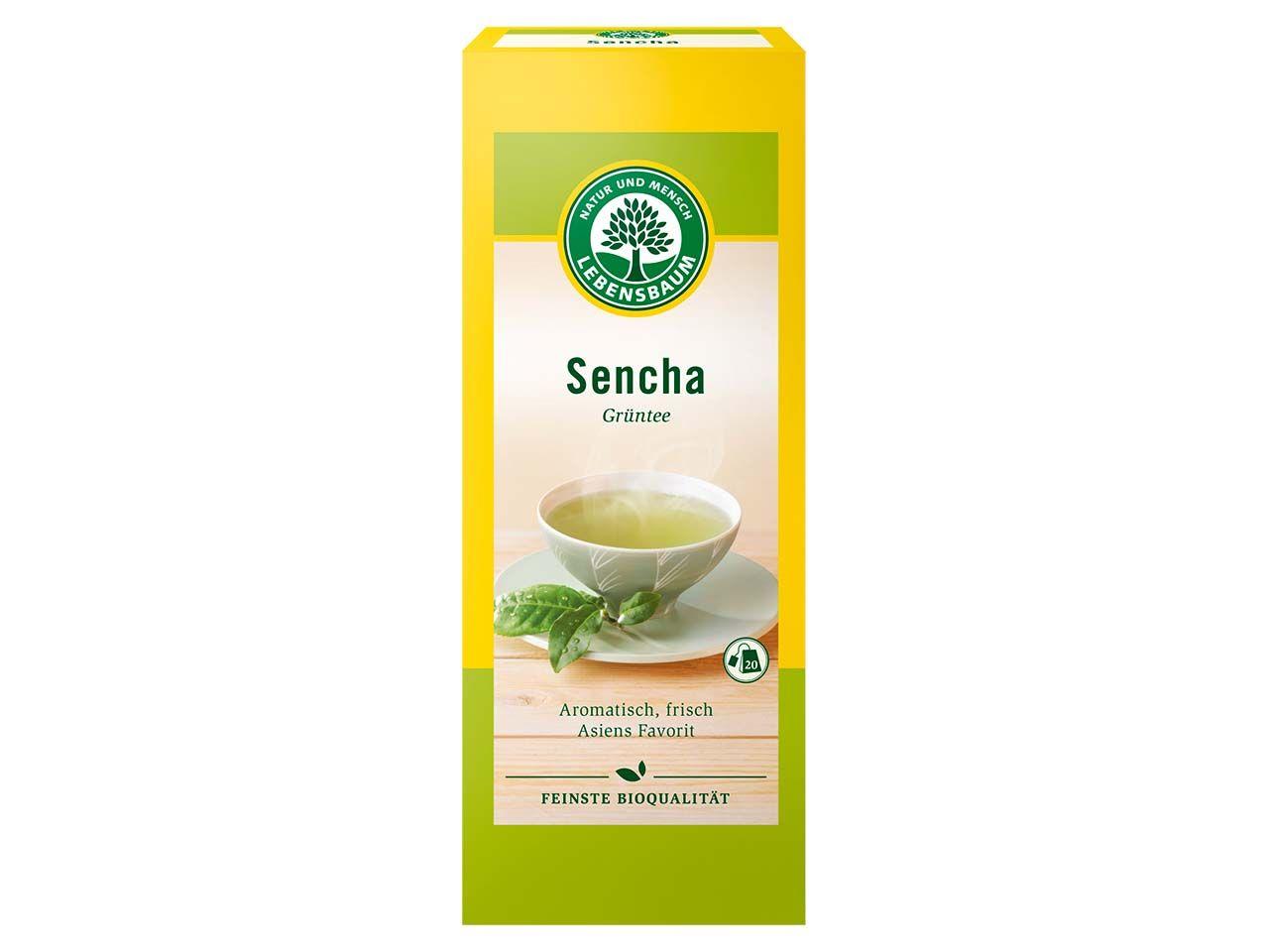 Lebensbaum Grüner Bio-Tee Sencha, 20 x 1,5 g 5116