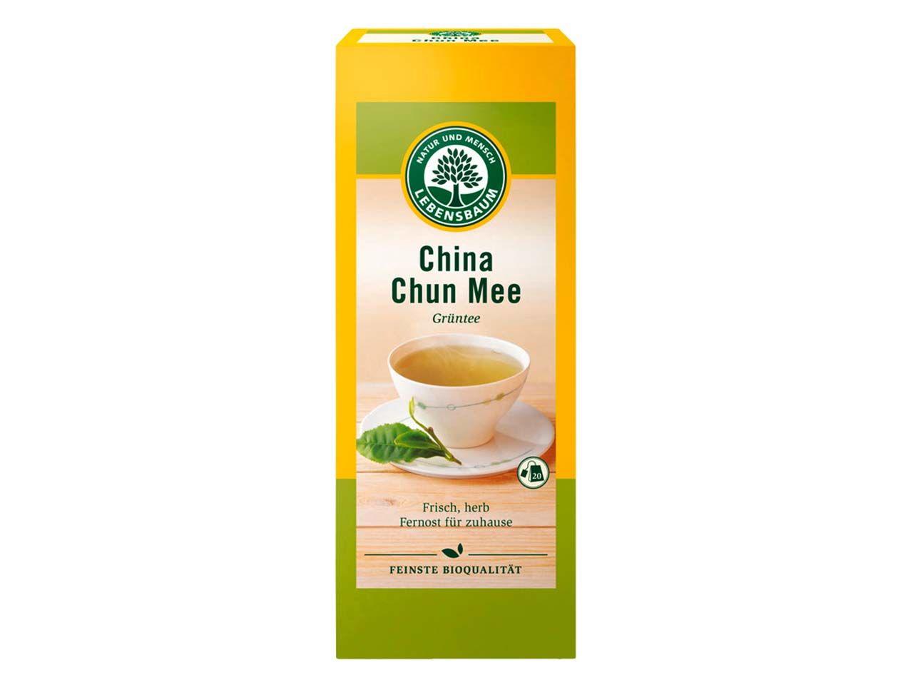 Lebensbaum Grüner Bio-Tee China Chun Mee 20 x 1,5 g 5112