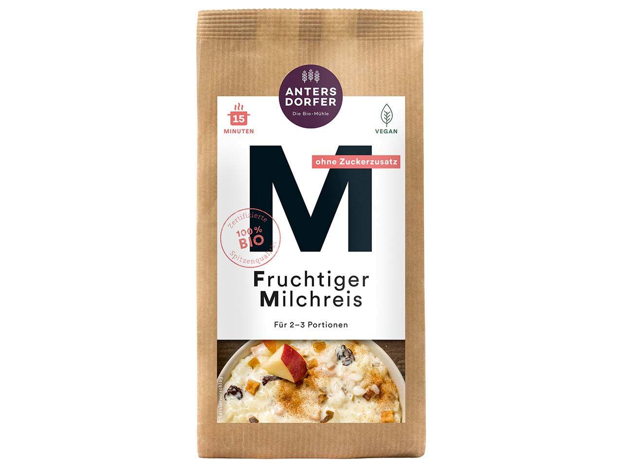 Antersdorfer Fruchtiger Bio-Milchreis, 150 g A0388