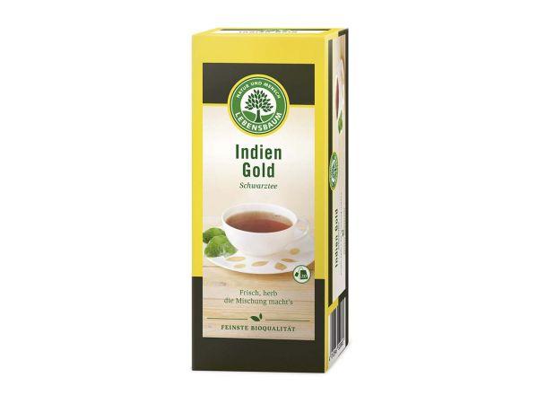 Lebensbaum Schwarzer Bio-Tee Indien Gold 20 x 2 g