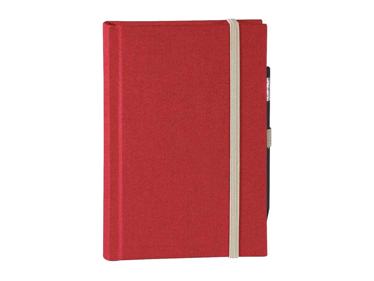 memo Skizzenbuch Leinen A6, (B 92 X H 134 mm) rot, 160 Seiten, Zeichenband,1 0164