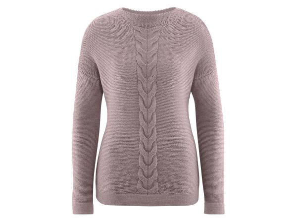 "Living Crafts Bio-Damen-Pullover ""Dafina"" taupe meliert, Gr. XL"