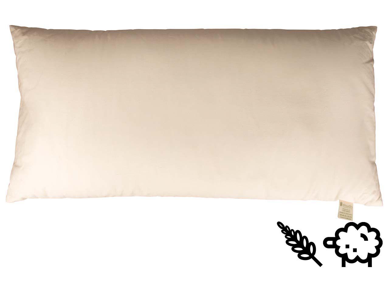 mudis Kopfkissen 40 x 80 cm Hirseschalen/Schafschurwolle 10480-00