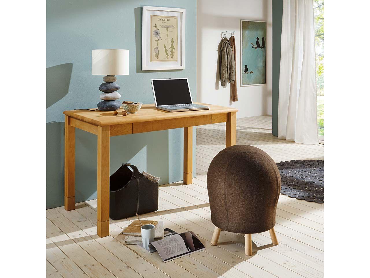 Schreibtisch aus massiver Buche 120 x 65 cm 215.65.120