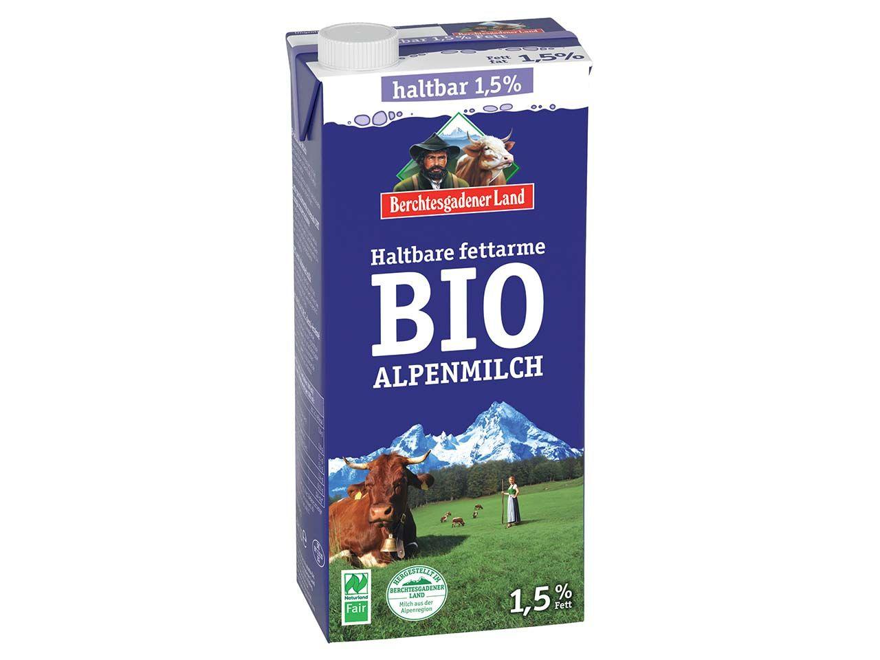 Berchtesgadener Land Bio-H-Milch 1,5 %, 1 l 106063145