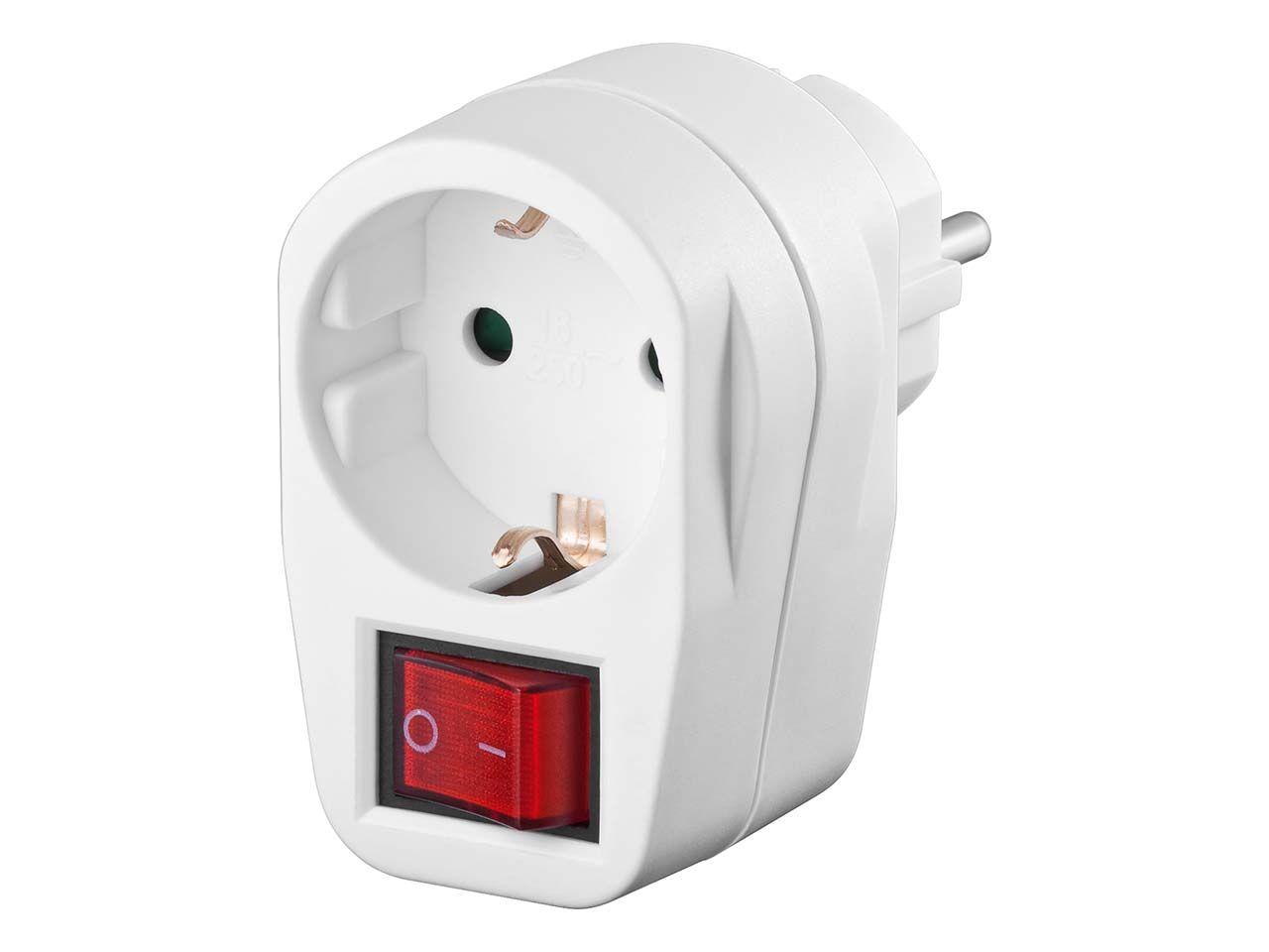 Zwischenstecker mit 2-poligem Schalter für 230 V Steckdosen 94272