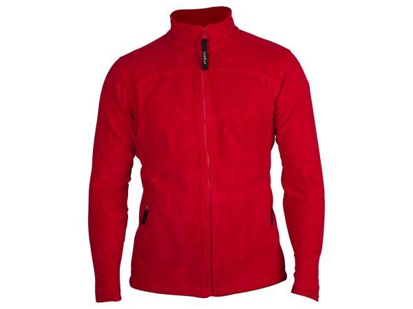 memo Herren-Fleece-Jacke rot, Gr.S  aus Bio-Baumwolle mit Fairtrade Siegel