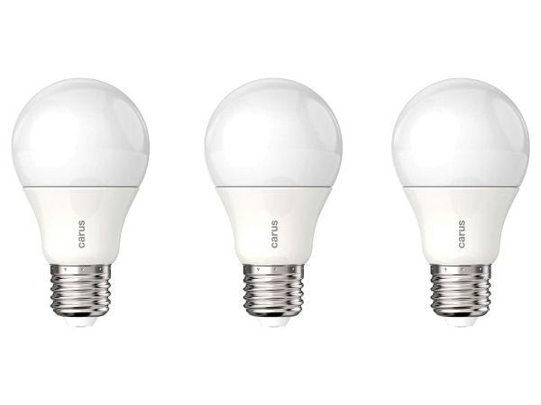 """3er-Pack carus LED-Lampe """"Classic Dim 800"""" 8,6 W, E27, 800 lm, dimmbar"""