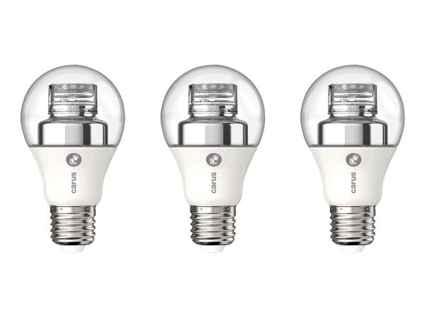 "3er-Pack carus LED-Lampe ""Warm by click"" 7,5 W, E27, 470 lm, dimmbar"