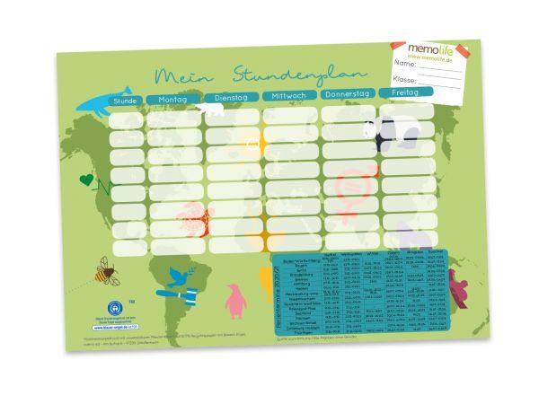 memo Stundenplan 2020/2021 mit Ferienkalender