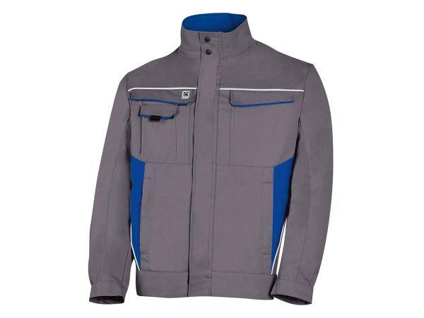 Unisex-Arbeitsjacke grau/blau, Gr. 56