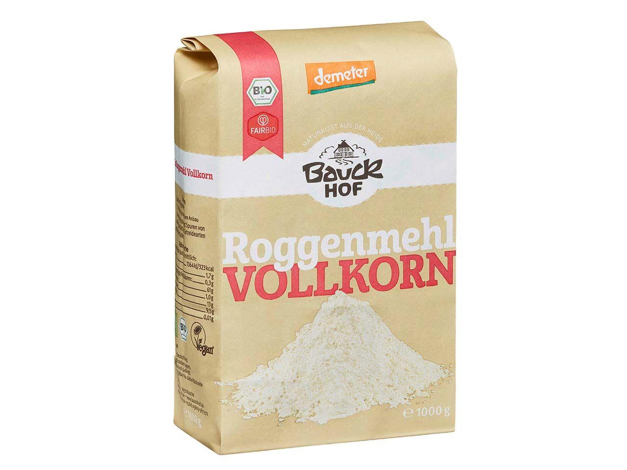 Bauckhof Bio-Vollkorn-Roggenmehl 1 kg 118250241