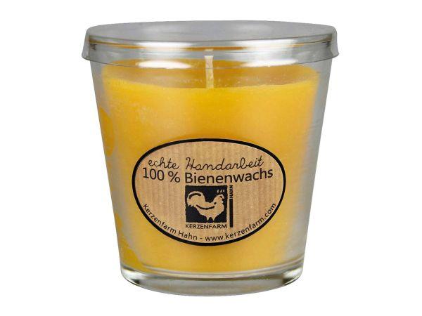 Kerzenfarm Hahn Kerze im Glas aus Bienenwachs