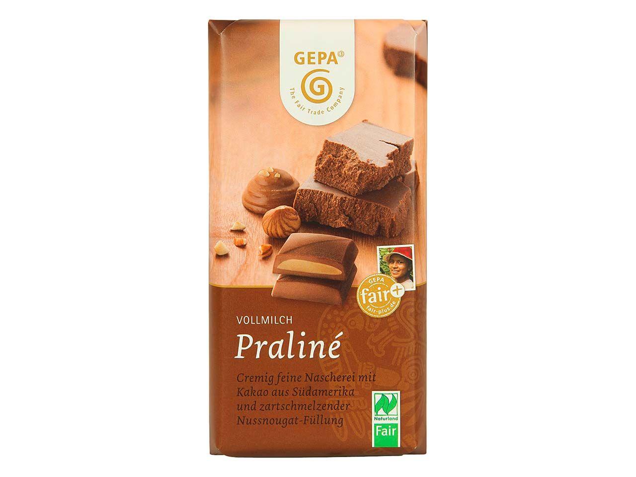 "GEPA Bio-Schokolade ""Vollmilch Praliné"" 100 g 8901820"