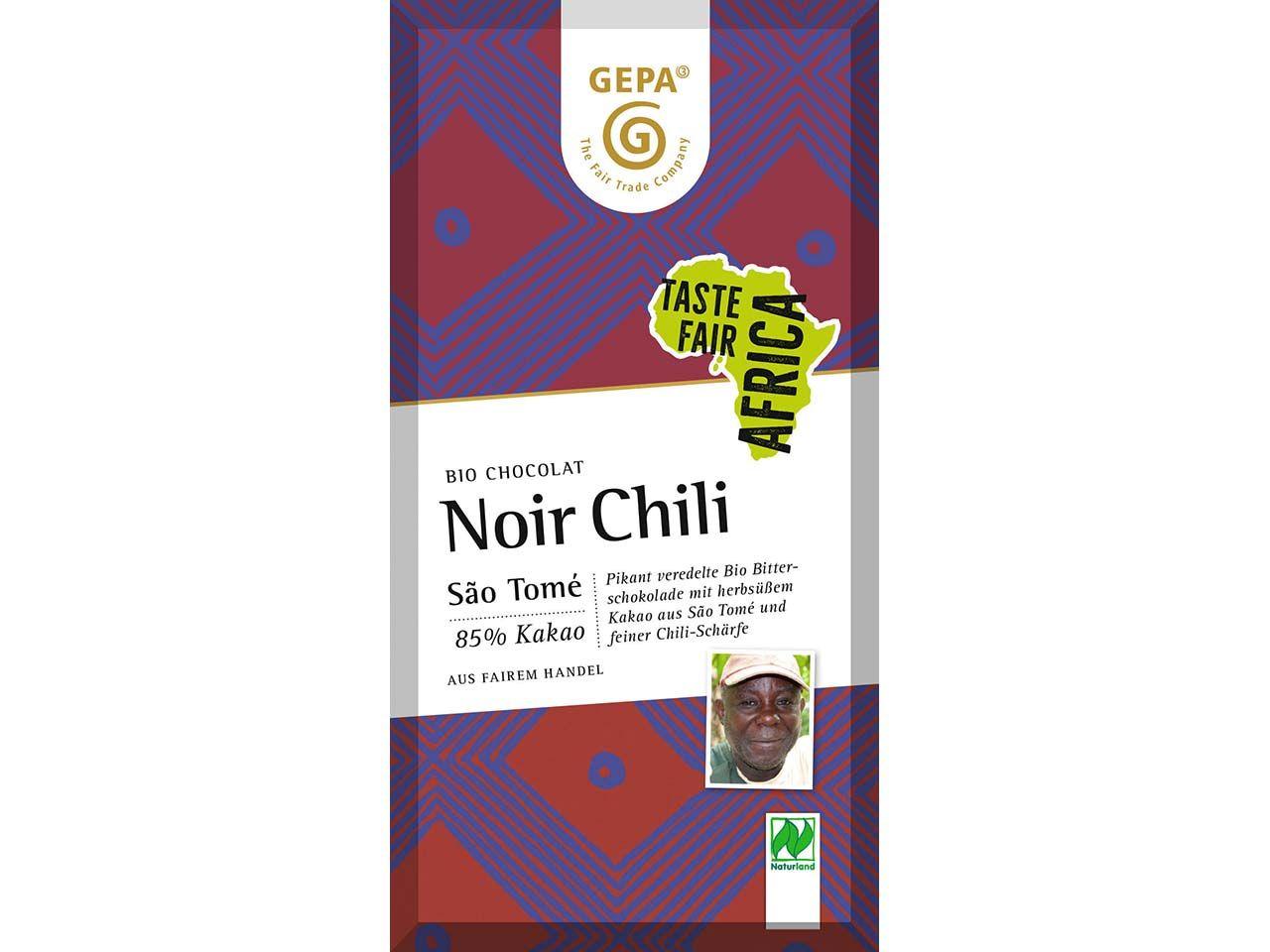 GEPA Bio-Noir Schokolade mit Chiliflocken 80 g 8961850