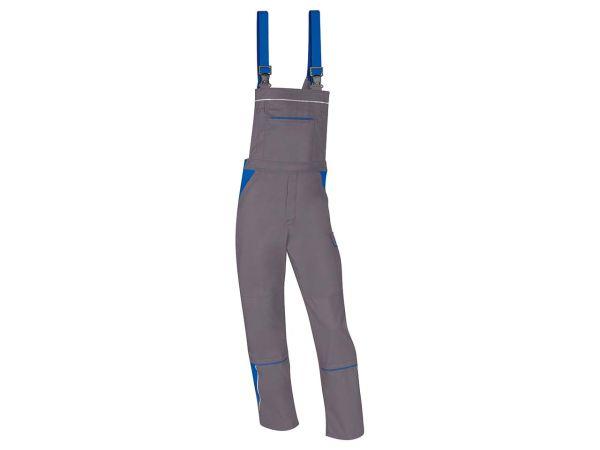 Unisex-Latzhose grau/blau, Gr. 64