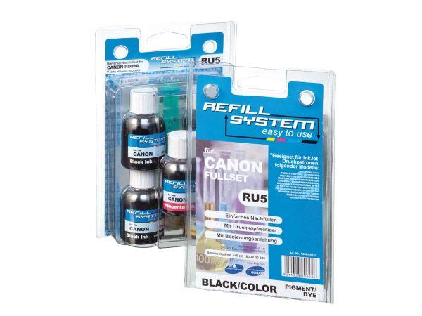 Universal-Refillsystem schwarz / color (5 x 30ml) für Canon PIXMA