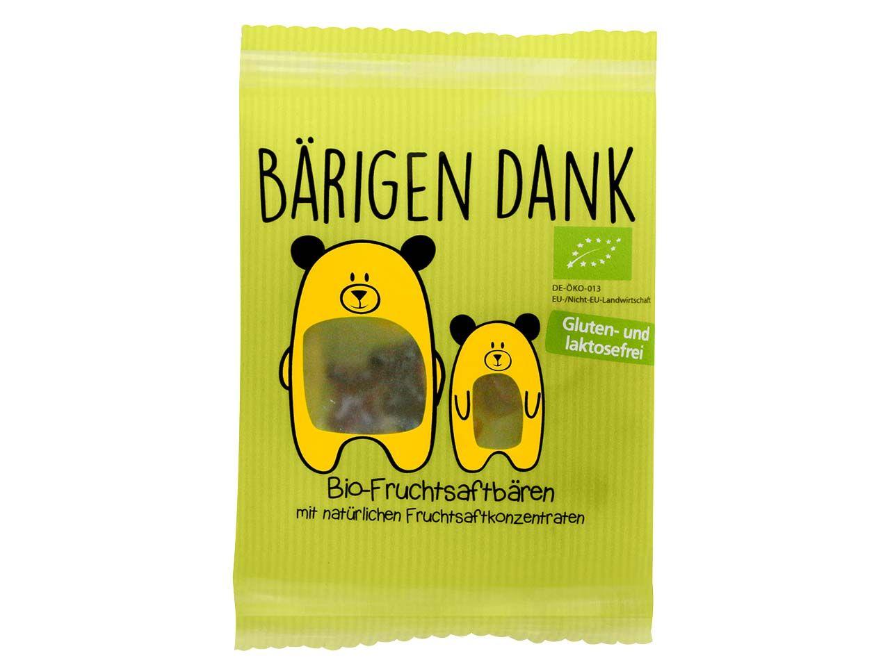 100 memo Tütchen Bio-Fruchtsaft-Gummibärchen je 16g