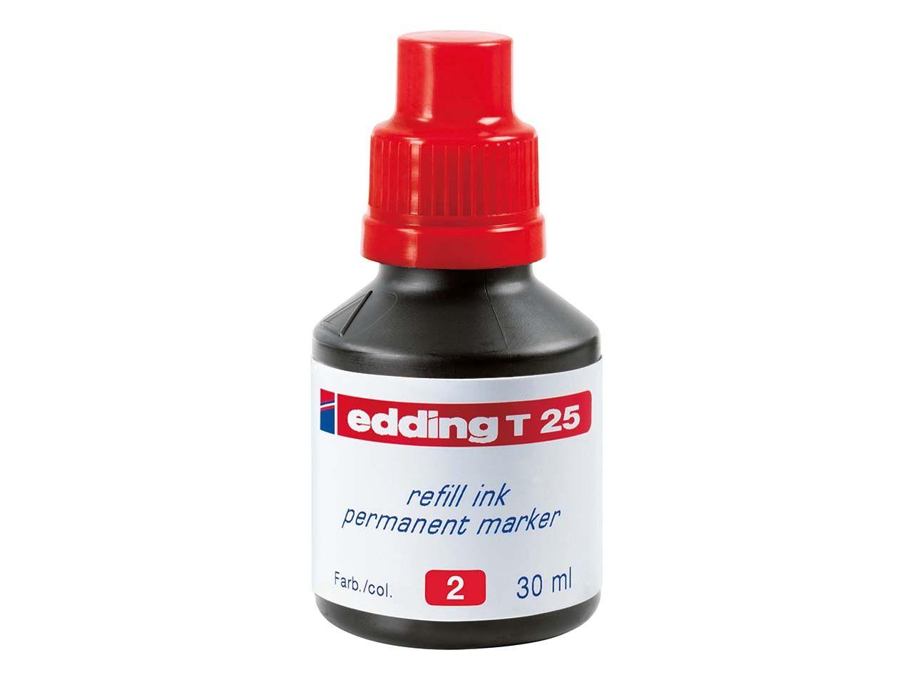 edding Nachfülltinte T25 rot 4-T25002