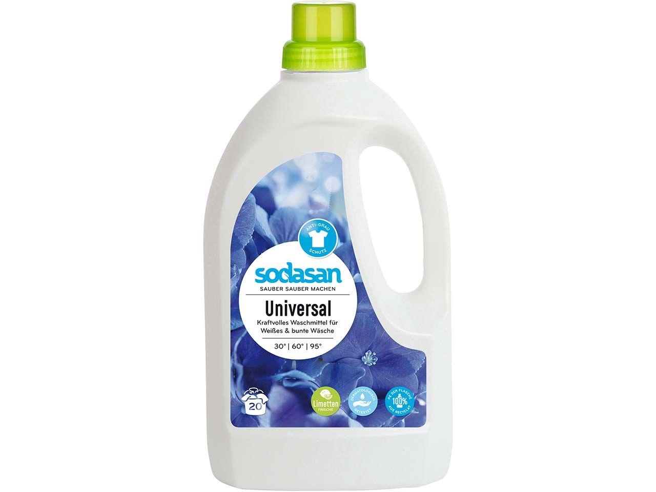 Sodasan Universalwaschmittel Limette 1,5 l 1561