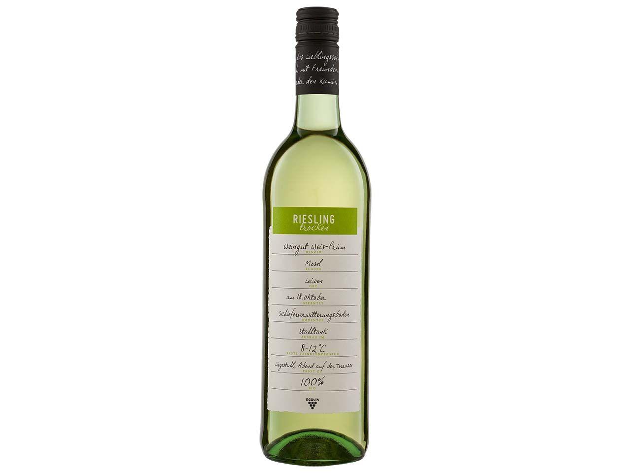 Bio-Weißwein Riesling Mosel, Qualitätswein, 0,75 l 52410