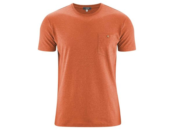 "Living Crafts Bio-Herren-T-Shirt ""Gordon"" orangeade, Gr. S"