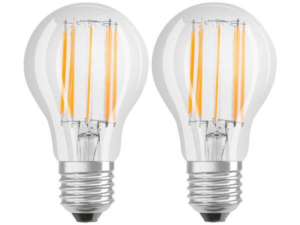 """2er-Pack OSRAM LED-Lampe """"Star Filament"""" CLA 100, 11 W, E27, 840"""