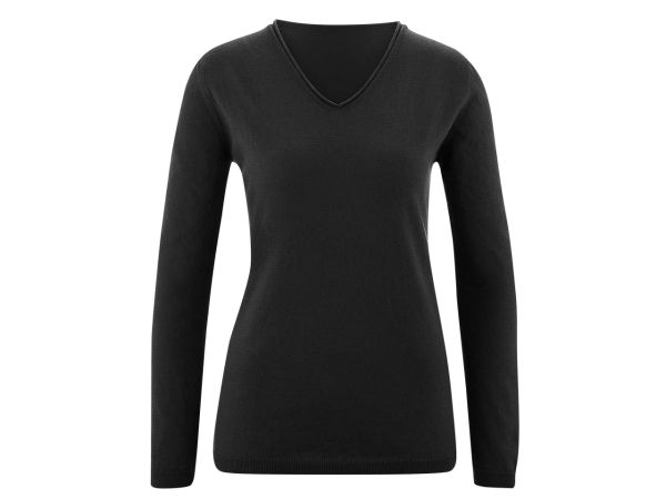 "Living Crafts Bio-Damen-Pullover ""Desiree"" schwarz, Gr. S"