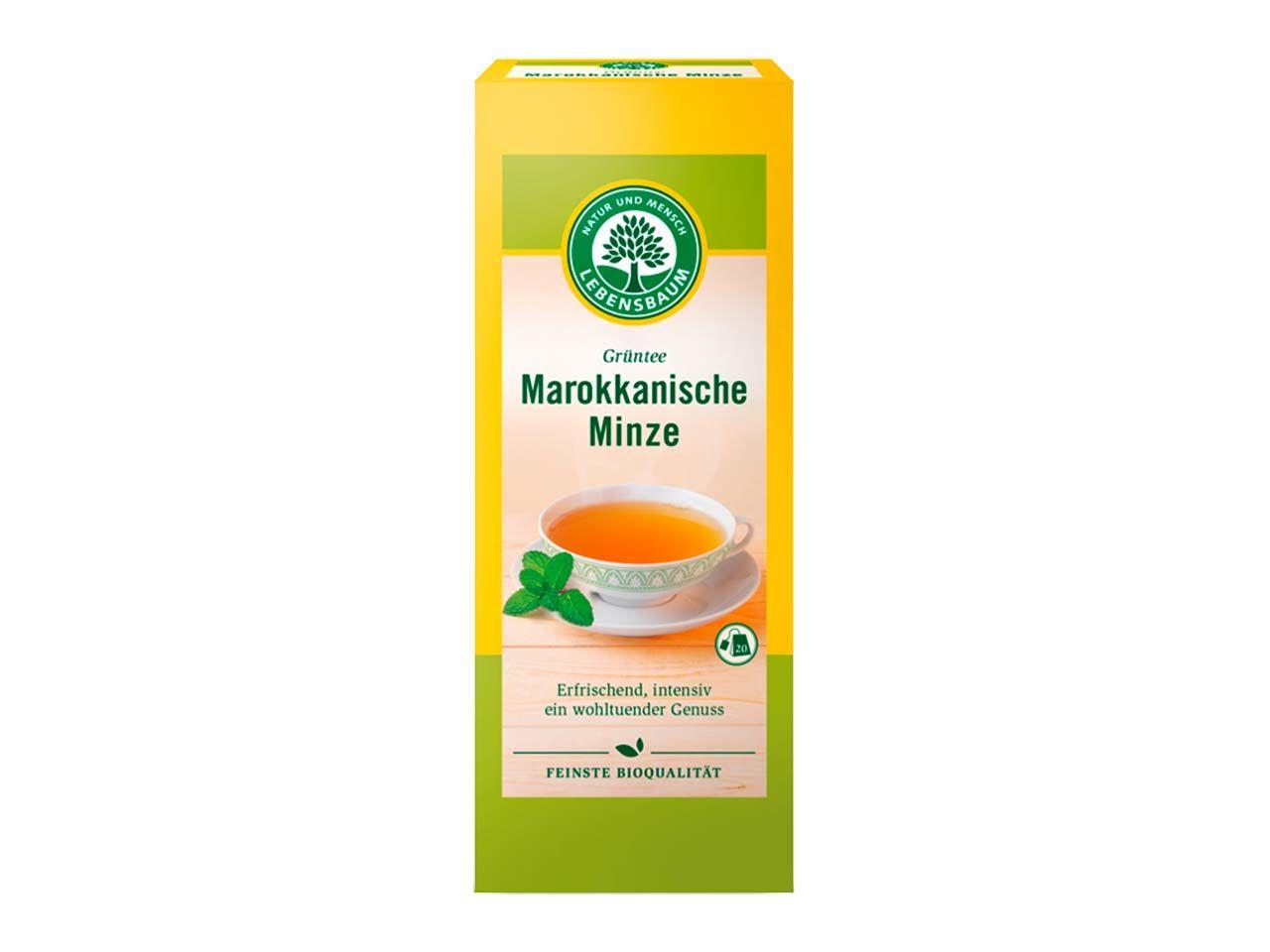 """Lebensbaum Grüner Bio-Tee """"Marokkanische Minze"""", 20 x 2,0 g 5198"""