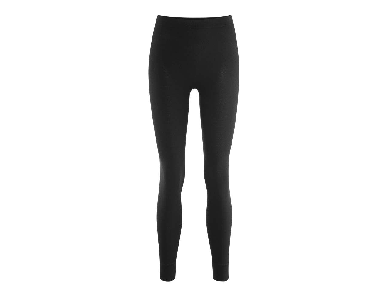 Damen-Unterhose lang aus Bio-Baumwolle schwarz, Gr. S 4358523638
