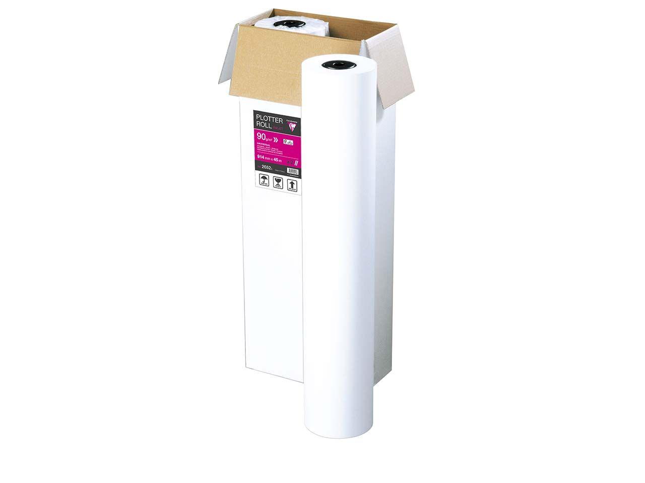Plotterpapier für Tintenstrahldruck 90 g/m², B 914 mm x L 45 m 2652C-FSC