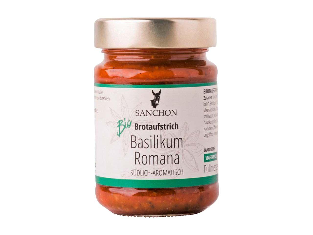 "SANCHON Bio-Brotaufstrich ""Basilikum Romana"" 190 g 1300010"